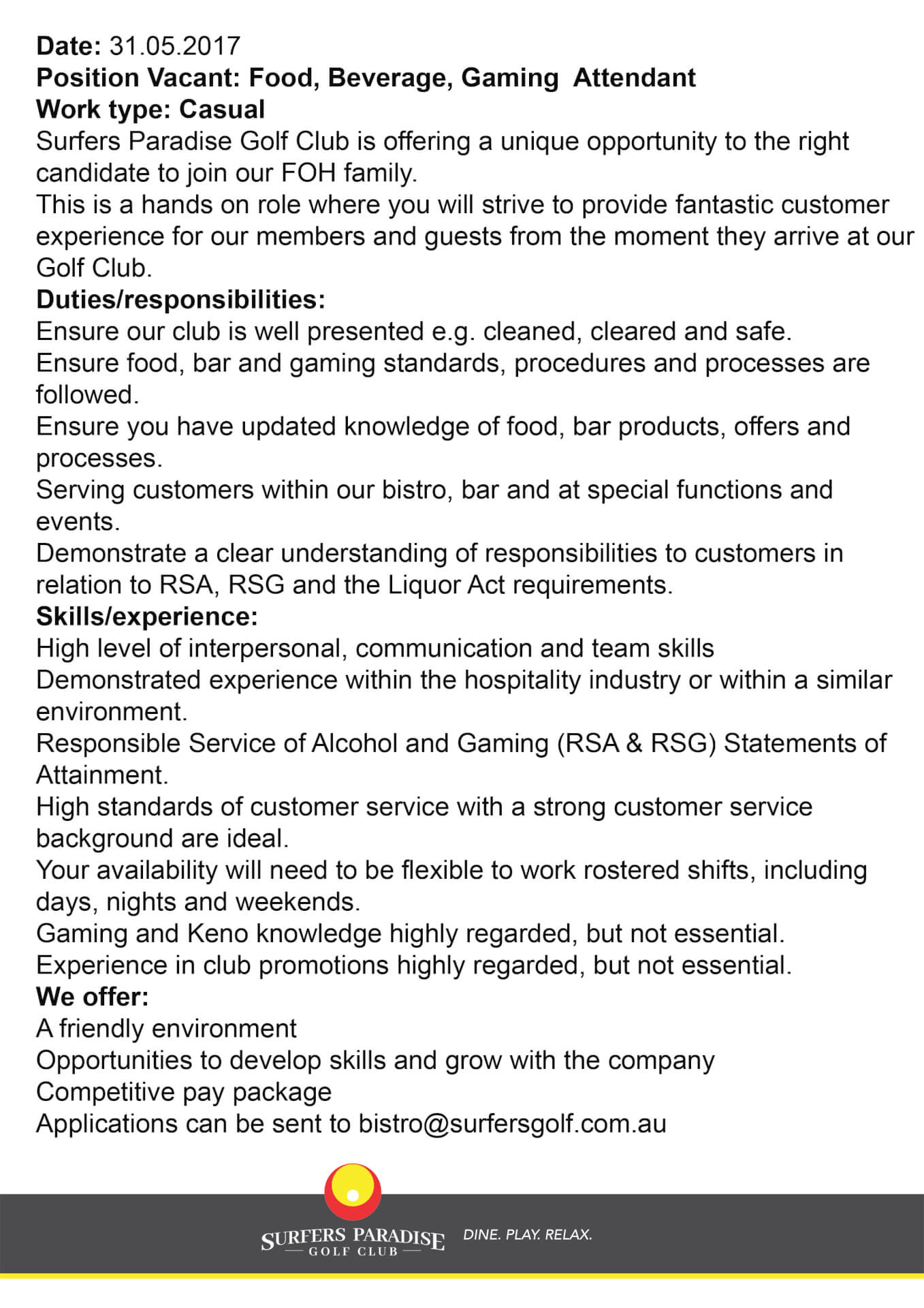 bar and gaming attendant resume sle 28 images uat